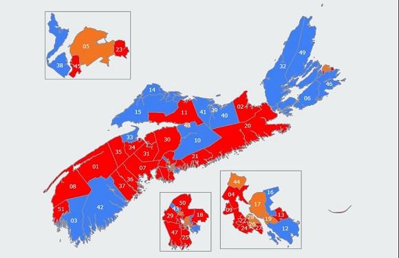 Elections Nova Scotia Information Statistics And Resources - Us map 2016 elect